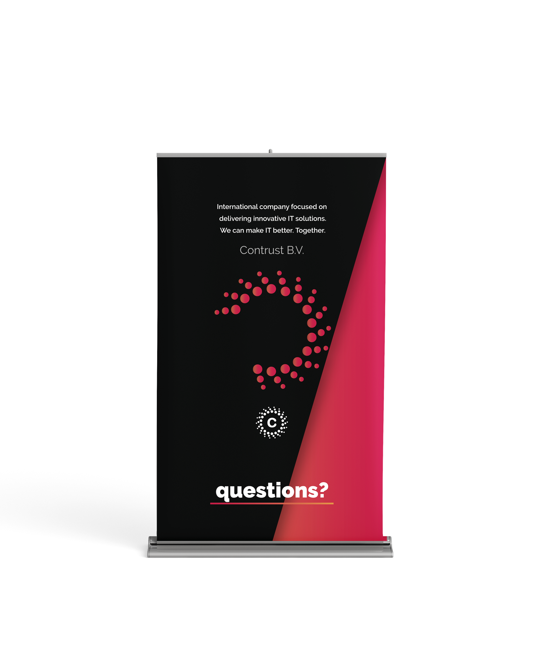 Banner and booklet design, Construct.io, Netherlands